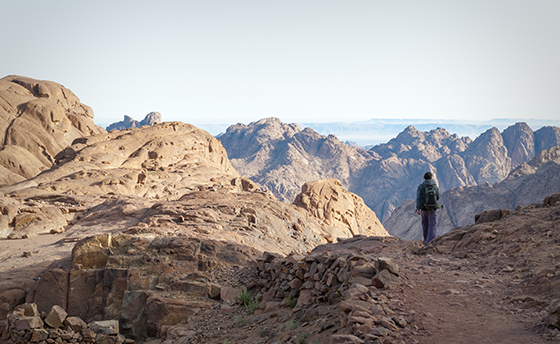 Hiking on Mount Sinai