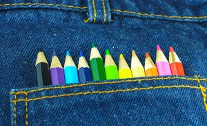 Jeans and Color Pencil
