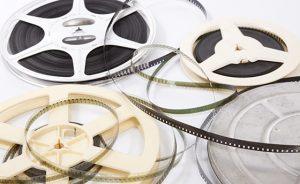 Group of film reels