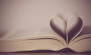 God is love concept of bible with heart