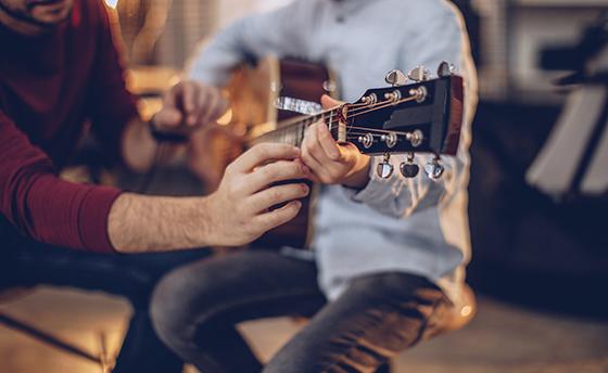First guitar class