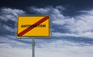 ANTISEMITISM - image with words associated with the topic RACISM, word, image, illustration