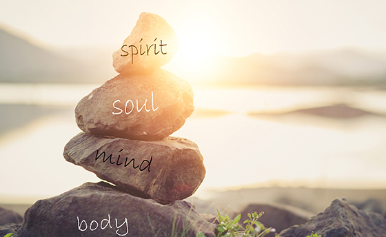 Concept body, mind, soul, spirit