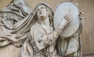 bas-relief of Miriam, the heroine of the Bible