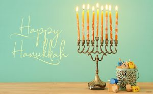 image of jewish holiday Hanukkah background with menorah (traditional candelabra).